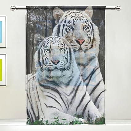 Amazon.com: TSWEETHOME Window Treatments Sheer Curtains Draperies ...