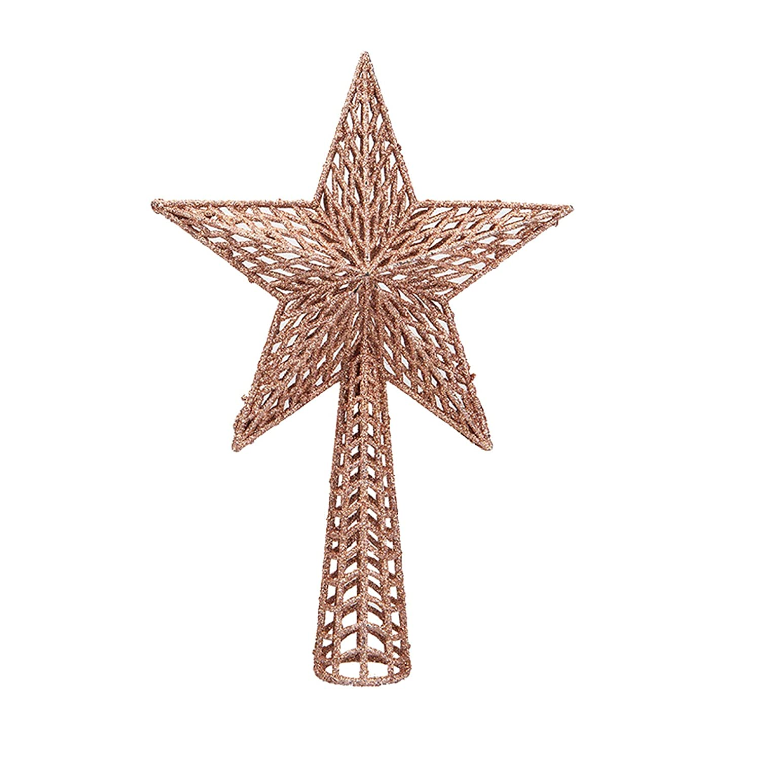 25cm Tree Top Star Rose Gold 8500 Widdle Wonderland Glitter Collection Christmas Tree Decoration