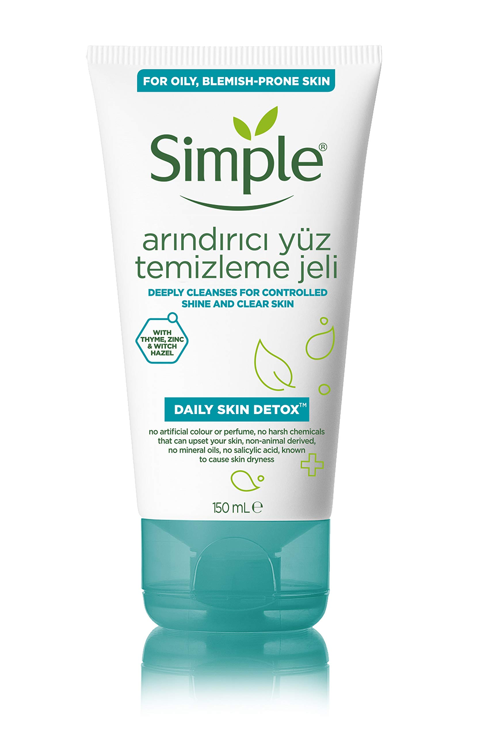 Simple Daily Skin Detox Purifying Facial Wash, 150ml