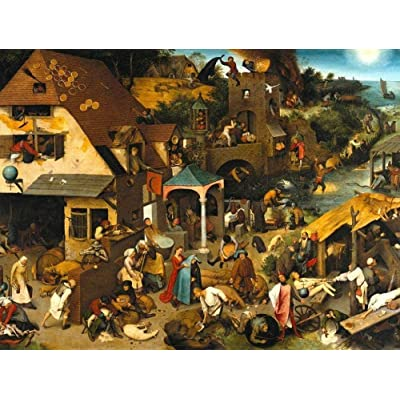 1000 Pieces Wooden Jigsaw Puzzle for Adult & Kids –The Dutch Proverbs by Bruegel Pieter: Toys & Games