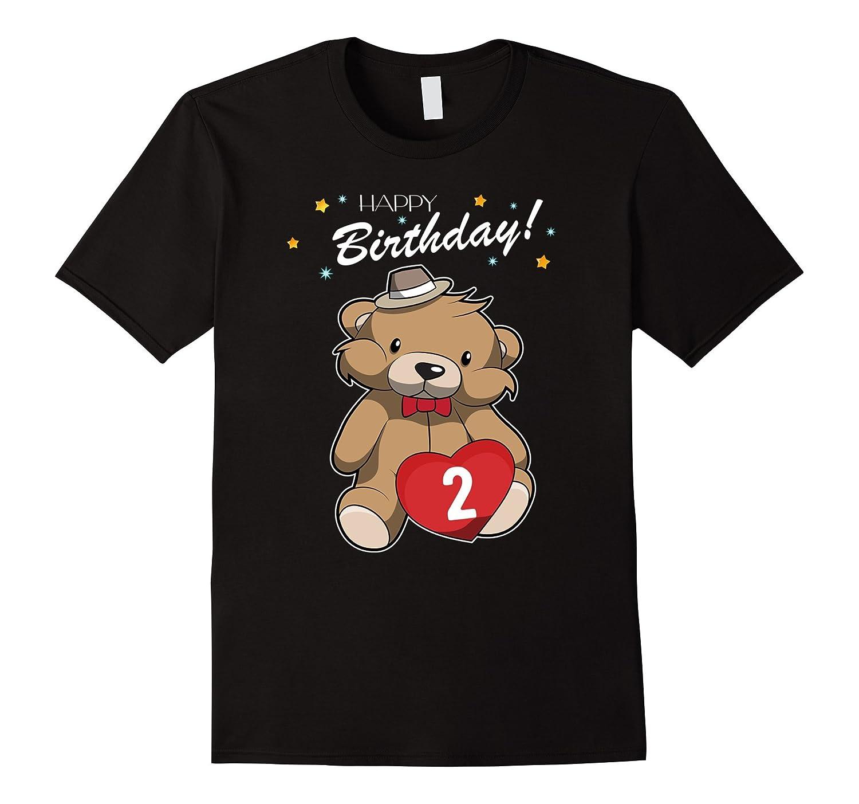 2nd Birthday T Shirt Teddy Bear Happy 2 Tee ANZ