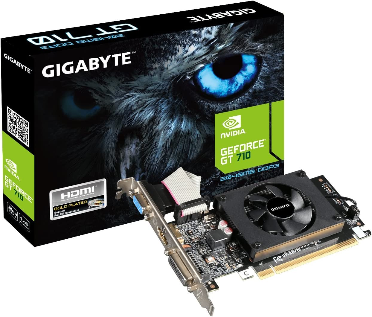 Tarjeta De Video 2 Gb Gigabyte Geforce Gt710 Ddr5 Lp Hdmi