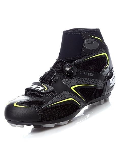 Zapatillas MTB Sidi Frost Gore Negro-Amarillo: Amazon.es: Zapatos y complementos