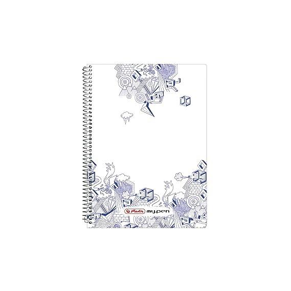 DIN A5 liniert Schreibblock 4x Herlitz Spiral-Notizblock