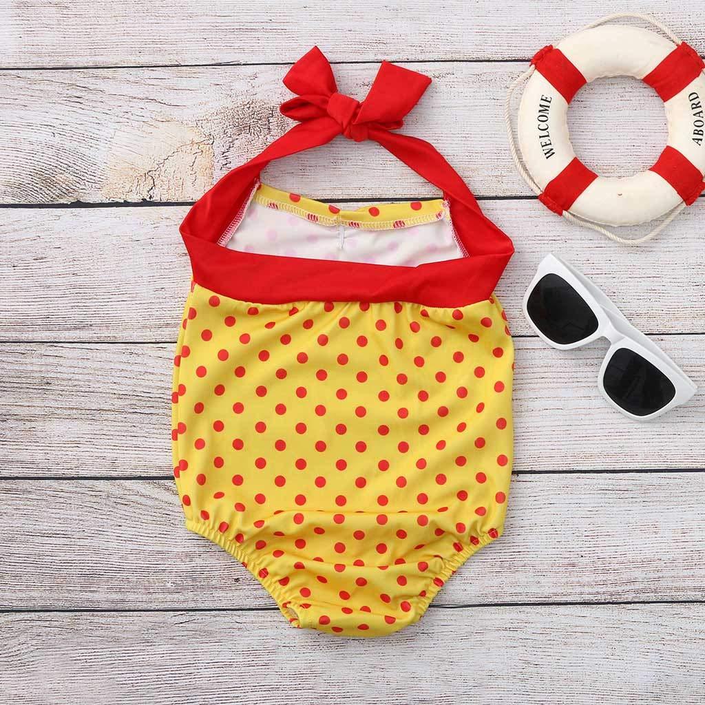 Toddler Kids Baby Girl Jumpsuit,Swimsuit Bathing Suit Bikini Dot Beach Swimwear