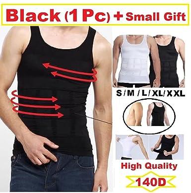 Para hombre cuerpo de adelgazamiento Shaper para hombre chaleco camisa ABS Abdomen shaperware
