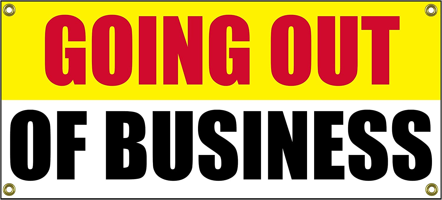 """Going Out of Business Banner Retail Store Shop Business Sign 36"""" by 15"""" Store Closing"""