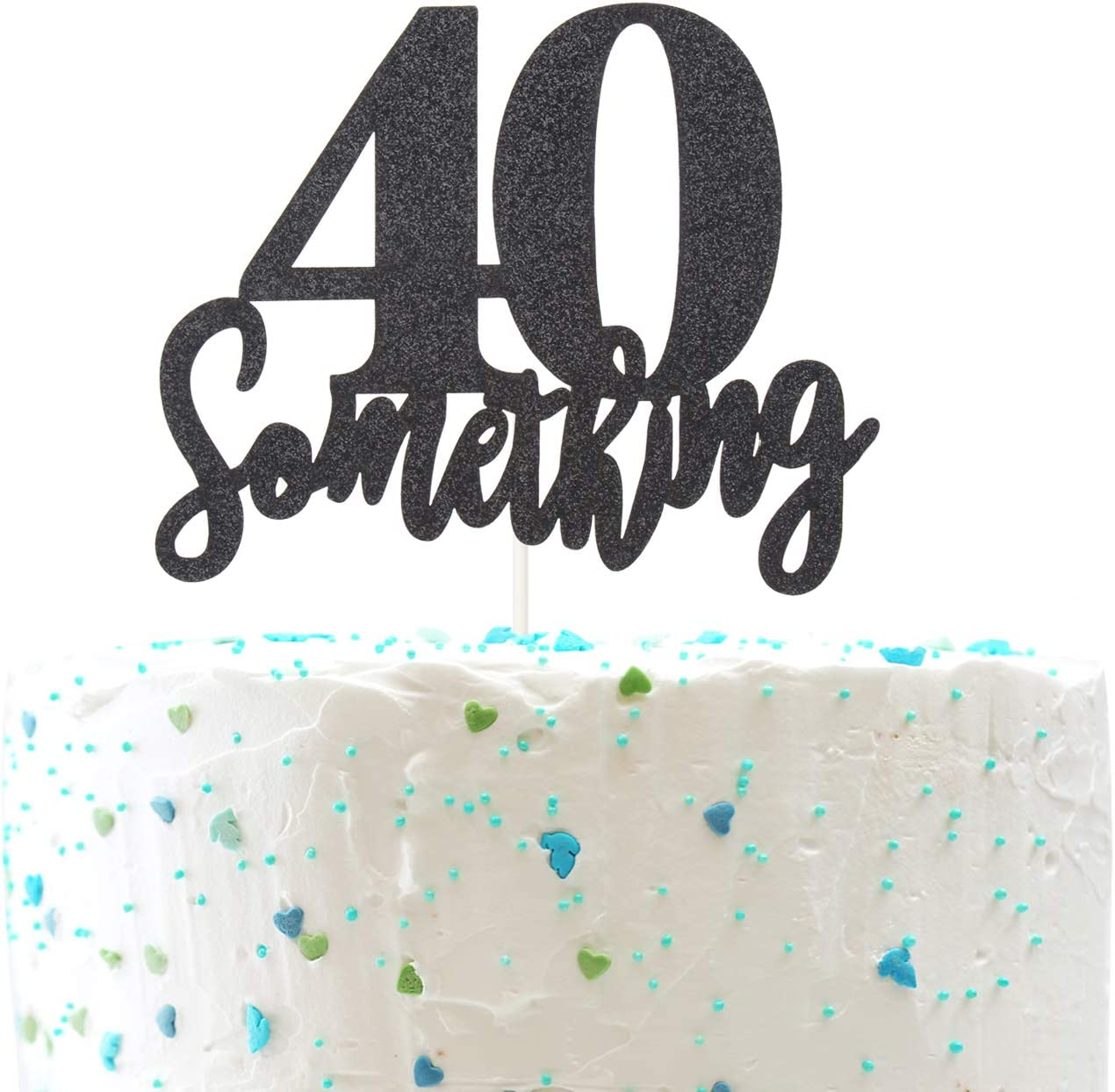 Outstanding Amazon Com 40 Something Cake Topper Funny 40Th Birthday Cheers Personalised Birthday Cards Cominlily Jamesorg