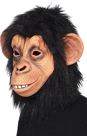 Adult Christmas Party Animal Fancy Dress Chimp Face Mask: Amazon.co ...