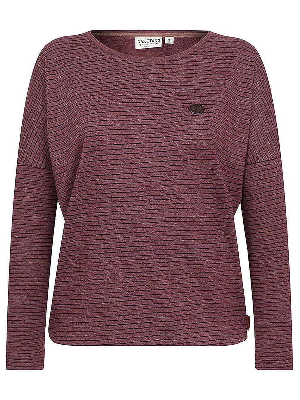 Naketano Damen Longsleeve Zeich Ma Titten T Shirt LS: Amazon