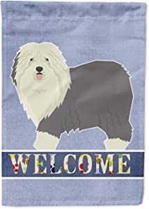 Caroline's Treasures CK3611GF Old English Sheepdog Welcome Flag Garden Size, Small, Multicolor