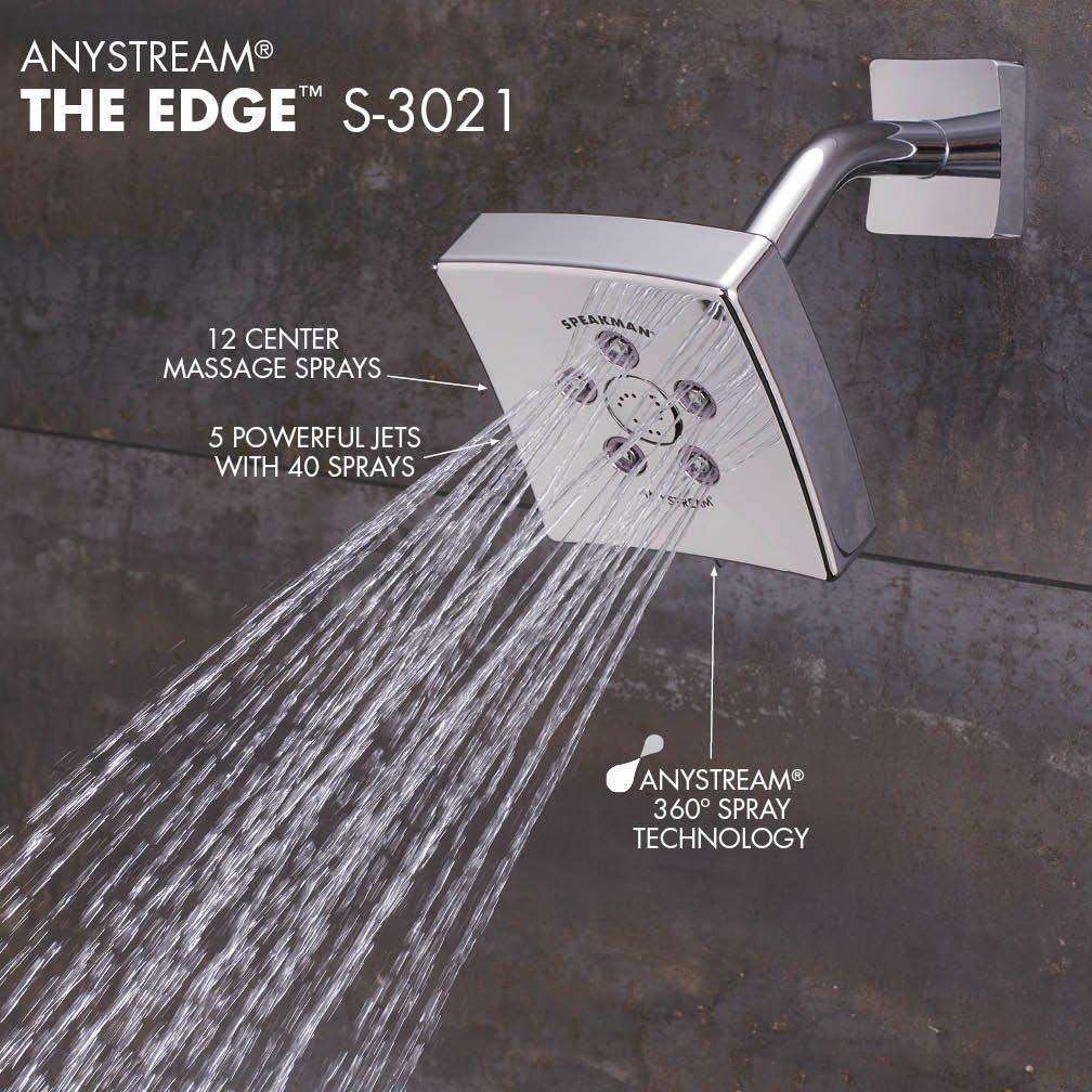 Speakman S-3021 Kubos Anystream High Pressure Adjustable 2.5 GPM ...