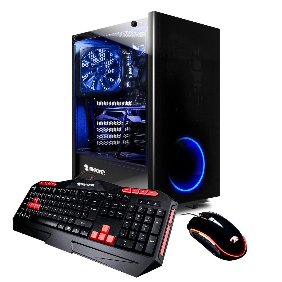 iBUYPOWER Gaming Elite Desktop PC Liquid Cooled AM8440i Intel i7-8700k 3.70GHz, NVIDIA Geforce GTX 1060 6GB, 16GB DDR4 RAM, 1TB 7200RPM HDD,  240GB SSD, Wifi, RGB, Win 10, VR Ready by iBUYPOWER (Image #1)