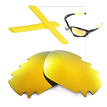 08e374a4332 Walleva Polarized Vented Lenses And Rubber Kit(Earsocks+Nosepads) For Oakley  Jawbone (