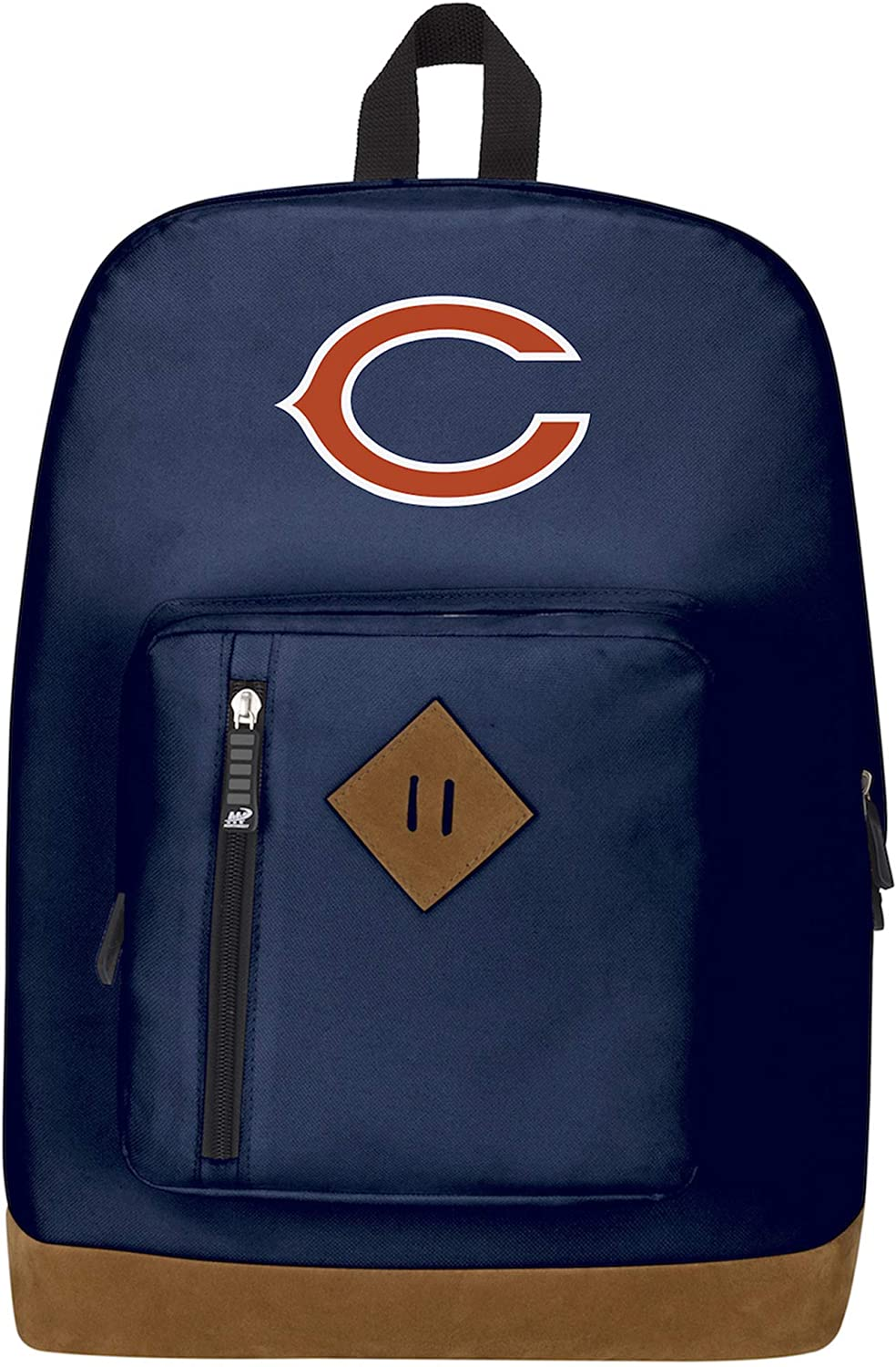 Officially Licensed NFL Chicago Bears Playbook Backpack 18 x 5 x 13 Blue