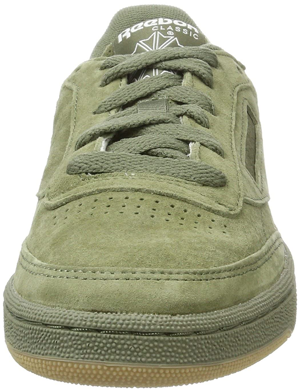 12495f505a965 Reebok Men s Club C 85 Sg Hunter Green White-Gum Leather Tennis Shoes - 11  UK India (45.5 EU) (12 US)  Buy Online at Low Prices in India - Amazon.in