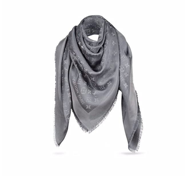 ff918e75b9fa Image Unavailable. Image not available for. Colour  Louis Vuitton M75120  Lurex Shine Monogram Shawl Scarf ...