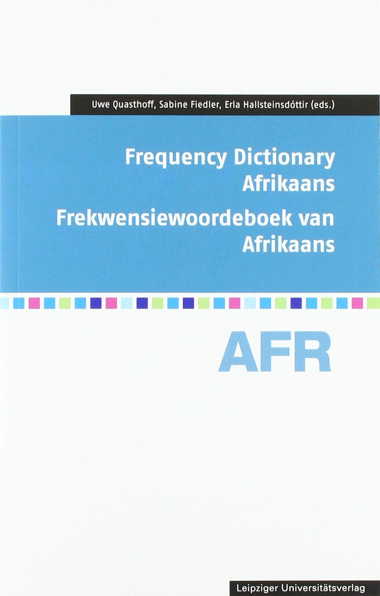 Frequency Dictionary Afrikaans  Frekwensiewoordeboek Van Afrikaans  Frequency Dictionaries