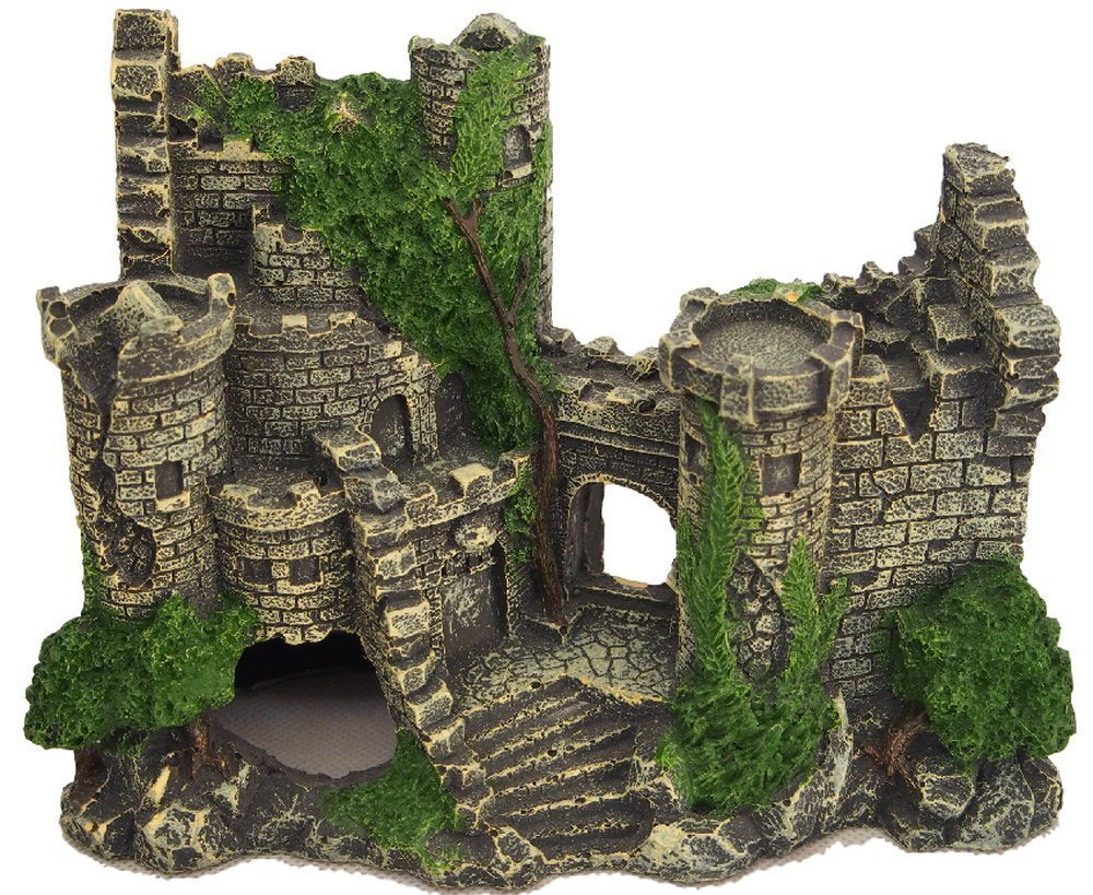 [J's select] to the hideout of the aquarium objects ancient ruins of temple building Aquarium ornament decoration Castle pillar dinosaur fish (castle)