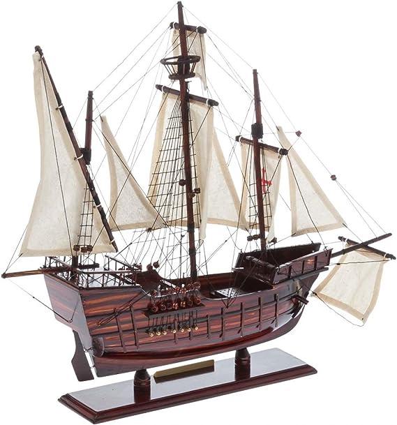 Nave Modelo de Madera de Santa Mar/ía de Col/ón Insignia del Barco de Vela