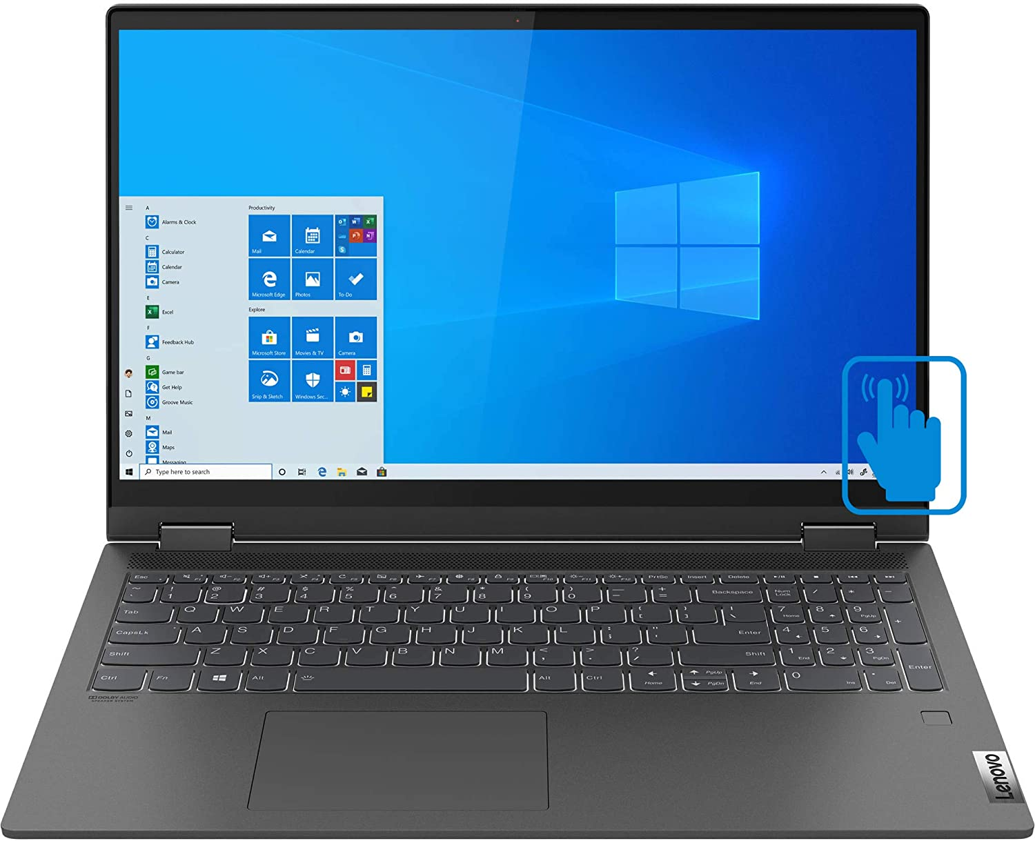 Lenovo IdeaPad Flex 5 15IIL05 81X3000VUS (Intel i7-1065G7 4-Core, 16GB RAM, 512GB SSD, Intel Iris Plus, 15.6