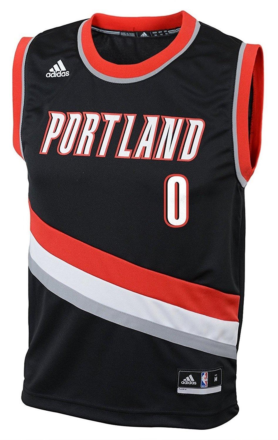 Damian Lillard Portland Trail Bllazers Black NBA Youth Revolution 30 Replica Jersey