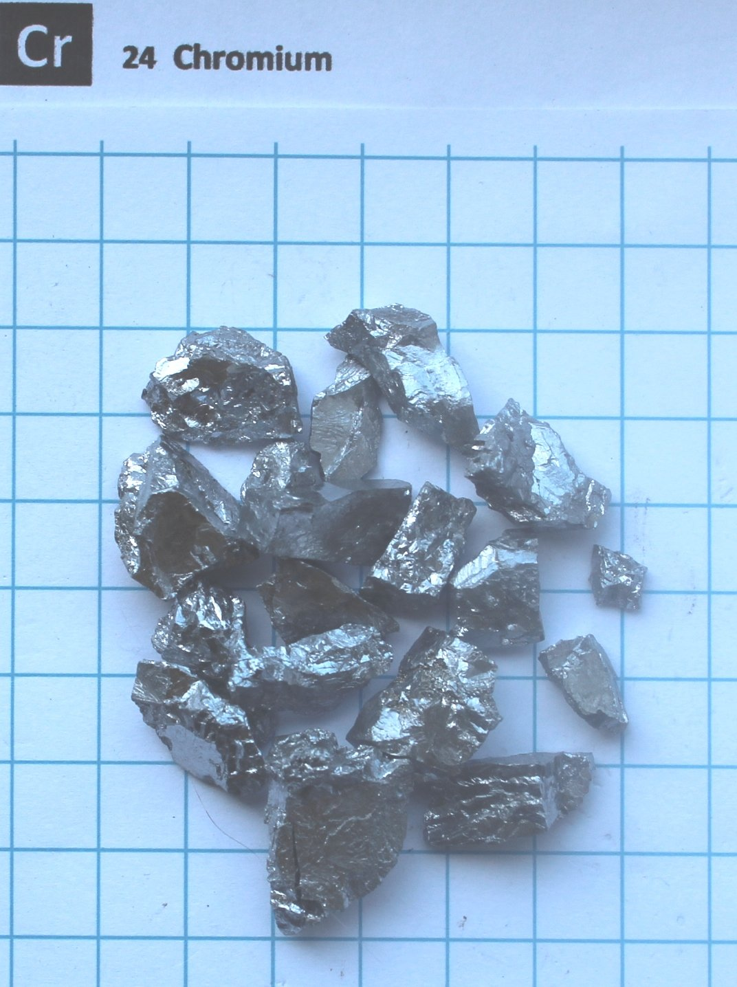 80 gram 99.9% Chrome Chromium Metal Pieces - Pure Element 24 Sample - Free Shipping Snaucke Elements