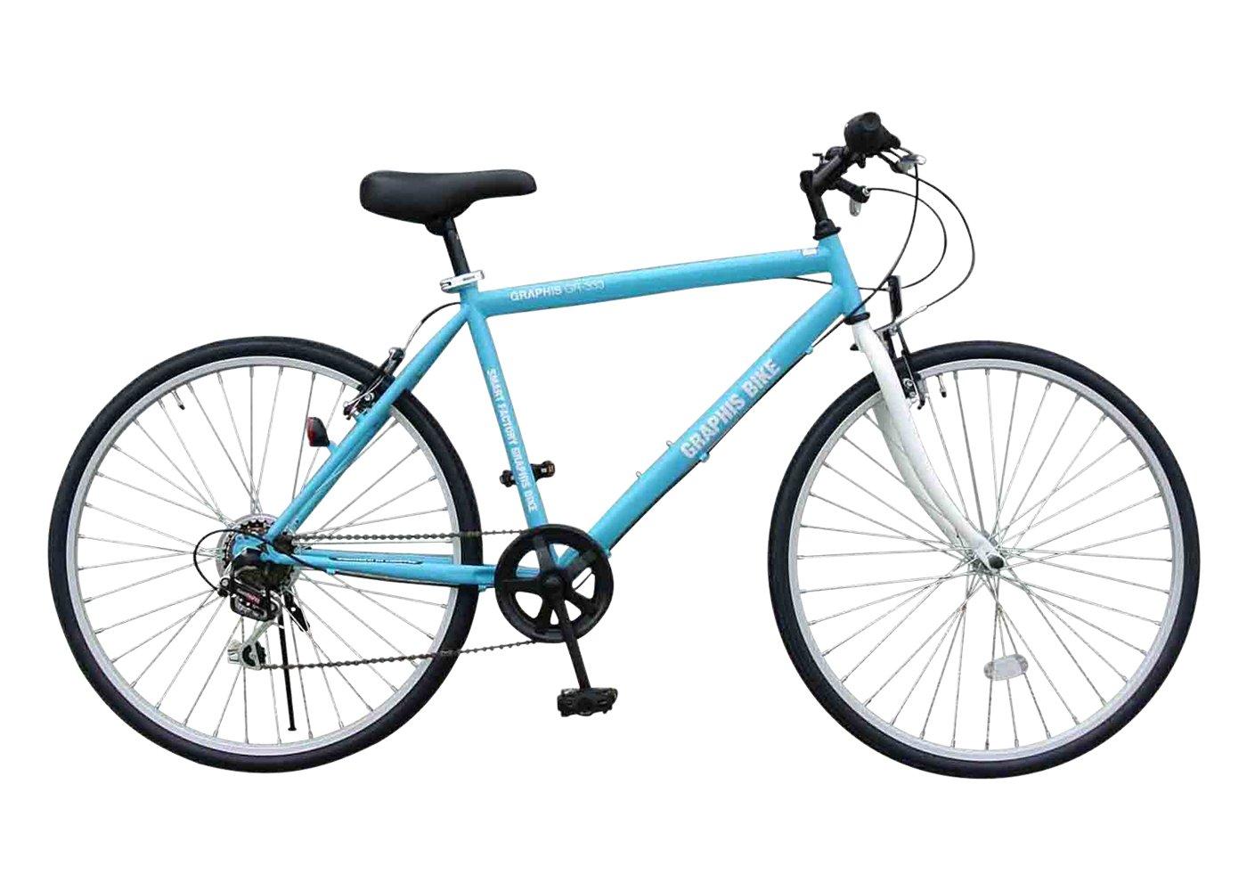 GRAPHIS(グラフィス) クロスバイク 26インチ 6段変速 GR-333 B00HVTJ7Y8水色