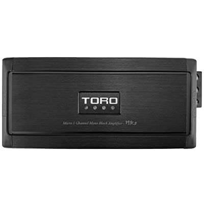 TORO TECH – MR2, 1000 Watts MAX – 500 Watts x 1 RMS 1Ω Stable Micro Sized Monoblock Car Amplifier Sound Quality Class D Design, Built-in Auto Sensing Turn On, Car Amplifier: Car Electronics [5Bkhe1515987]