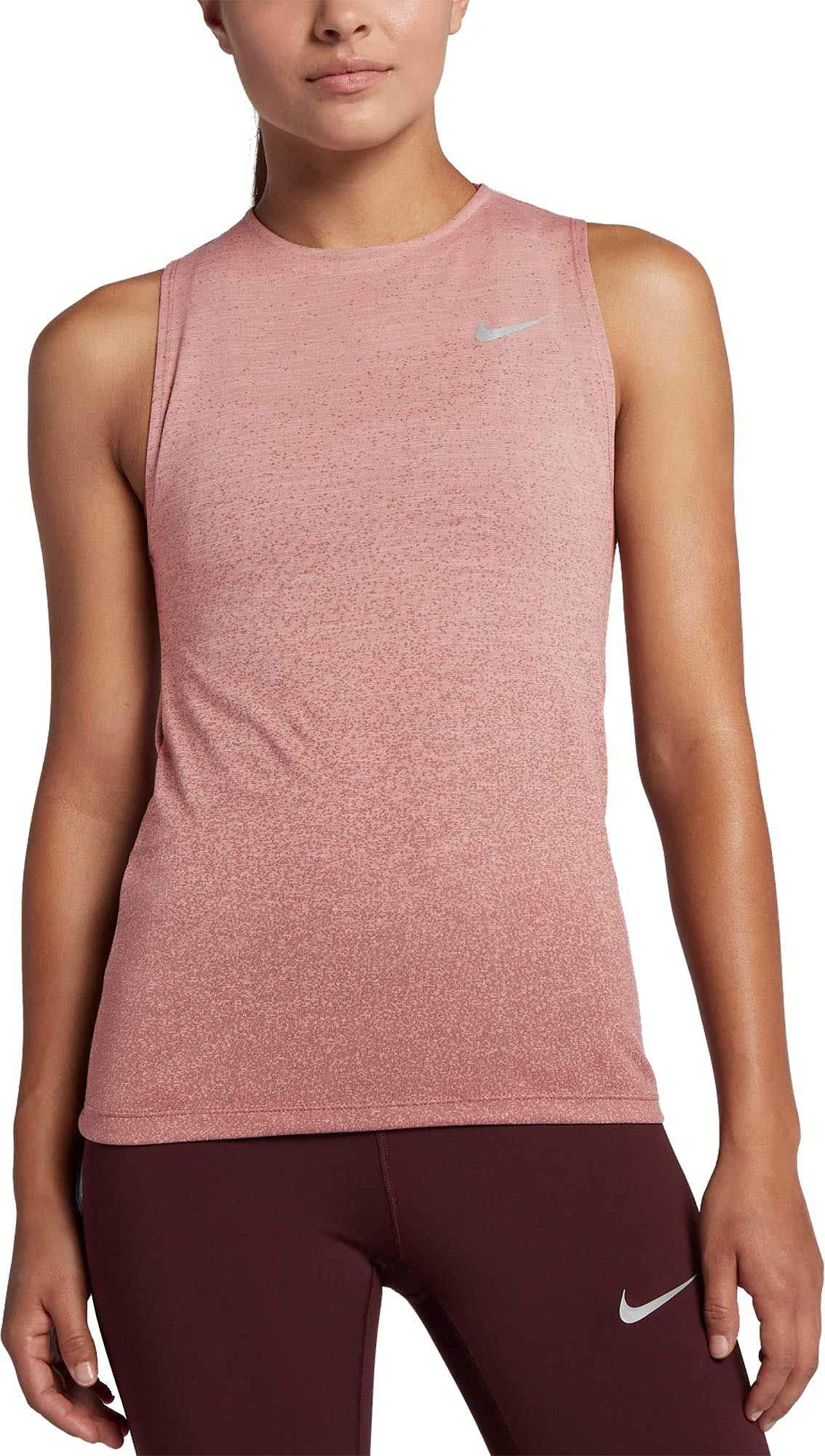 Nike Women's Medalist Running Tank Top (Storm Pink/Smokey Mauve, X-Small)