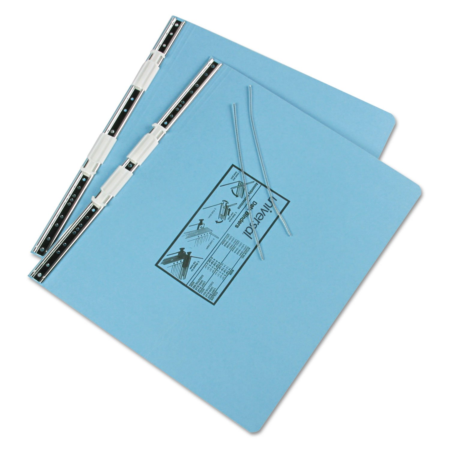 Universal 15441 Pressboard Hanging Data Binder, 14-7/8 x 11 Unburst Sheets, Light Blue