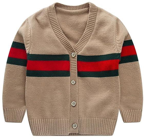 43795c943 Amazon.com  D-Sun Baby Boys Girls Cardigans V-neck Solid Sweaters ...