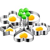 DYKL Eggs Rings for Frying Or Shaping Eggs,Food Grade Egg Cooking Rings,Stainless Steel Fried Egg Mold,Pancake Rings,Fried Eg