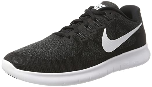 Nike Womens Free RN 2 Running Shoe Black/White/Dark Grey/Anthracite 5.5