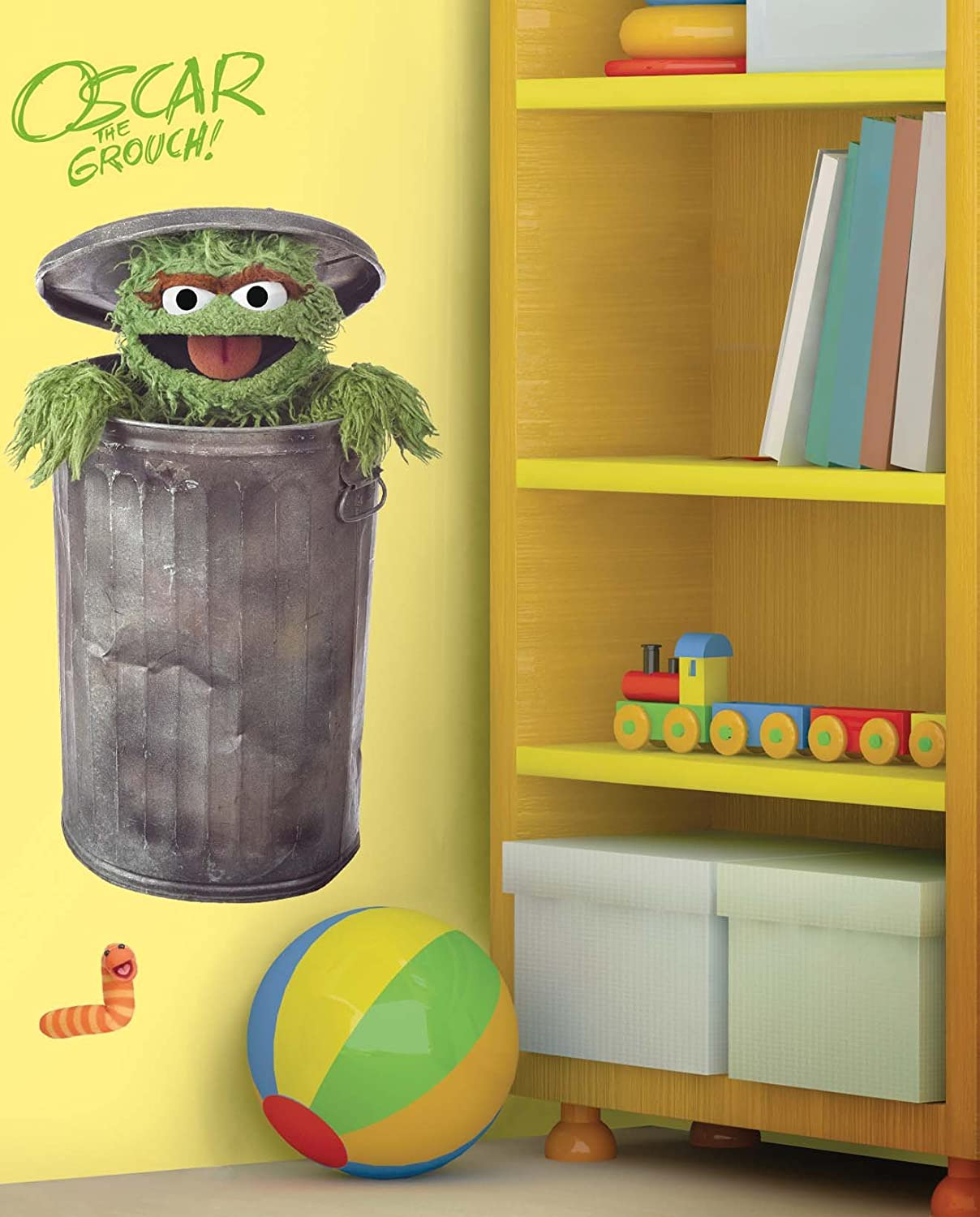 Nice RoomMates RMK1479GM Sesame Street Oscar The Grouch Peel U0026 Stick Giant Wall  Decal   Childrens Wall Decor   Amazon.com Part 28