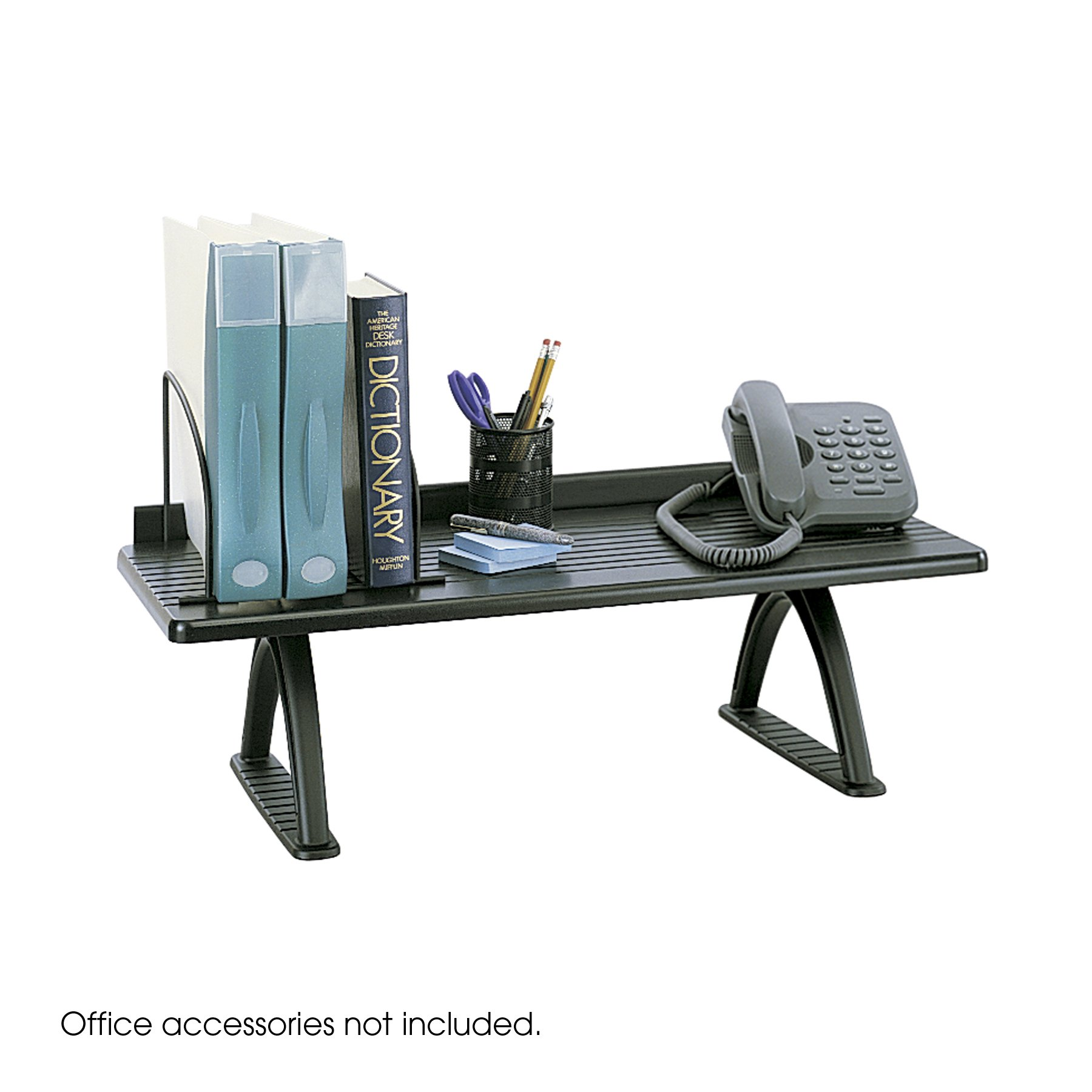 Safco Products 3602BL Wood Desk Riser, 30''W, Black