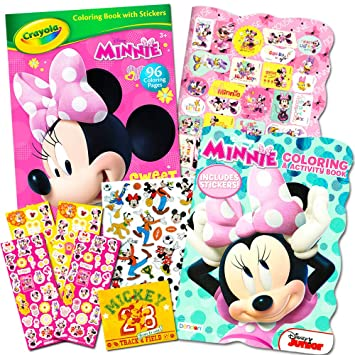 Amazon.com: Disney Minnie Mouse Cuaderno de colorear con ...