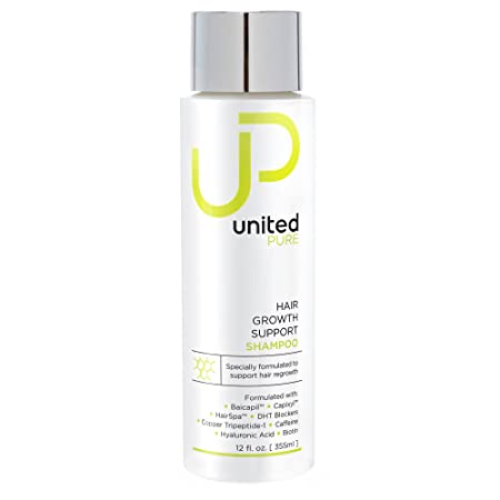 New UP Hair Growth Support Shampoo – United Pure Big 12oz DHT Blocking Anti Hair Loss w Baicapil, Capixyl, HairSpa, Biotin, Hyaluronic Acid, Keratin, Copper Tri-Peptide 1, Saw Palmetto More