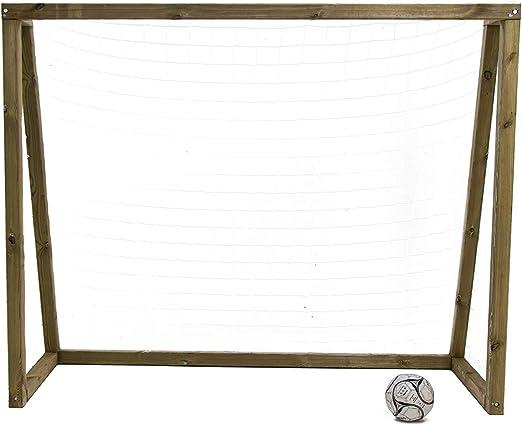 MASGAMES | Porteria de fútbol de Madera | Modelo L | 220 cm (largo ...