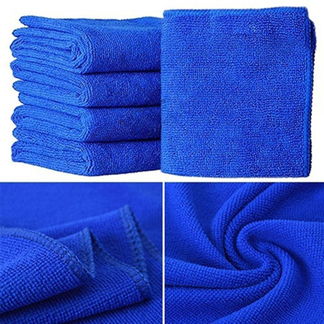 Vividy Microfiber Cloth Cleaning Towels (Pack of 5 Pieces) for Fine Auto Finishes, Interior, Kitchen, B Paper Towels
