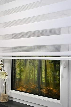 Super kskeskin Duo Rollo Doppelrollo Farbe weiß Breite180 cm Länge 170 YK18