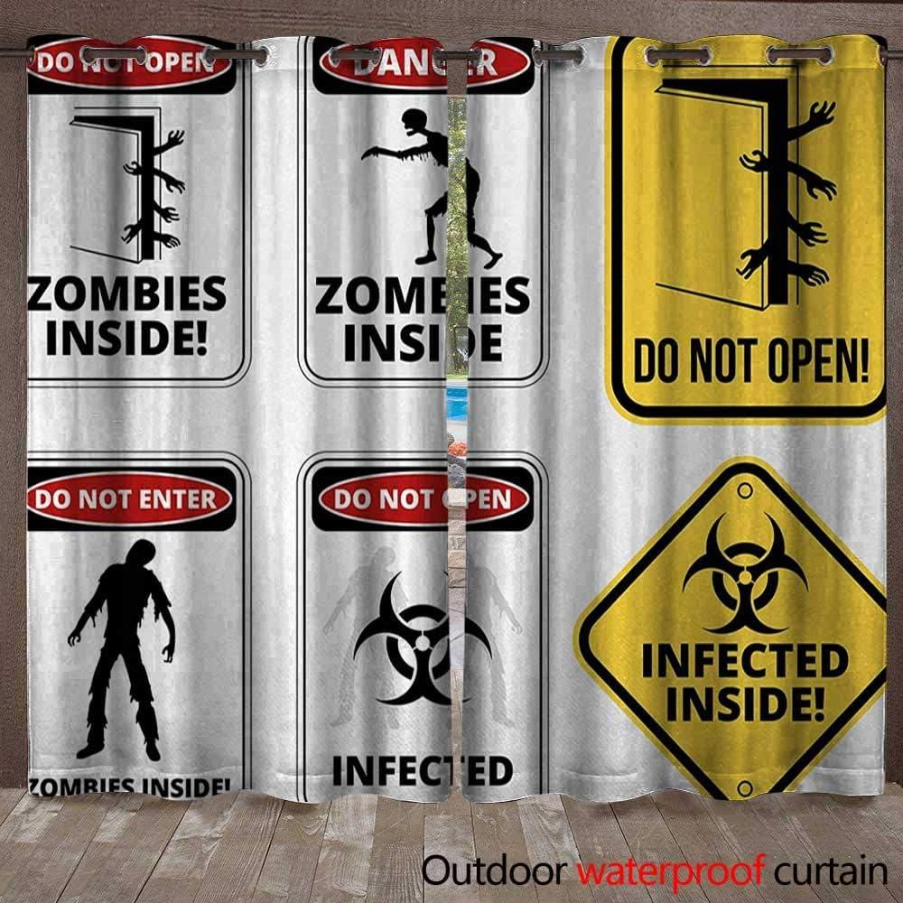 Zombie - Cortina de seguridad para interiores y exteriores, sin ...