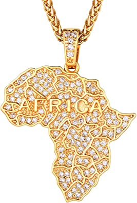 """Men/'s Hip Hop Gold Plated Ice Out Gun /& Praying Hand Pendant 28/"""" Chain Necklace"""