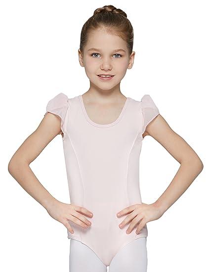 d34358dd720 MdnMd Ballet Leotard for Toddler Girls with Petal Cap Sleeve (Ballet Pink