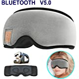 MOITA Sleep Mask Headphones, Bluetooth 3D Sleep Eye Mask Headphones with Built-in Speakers, Wireless Sleep Mask Music Player for Sleeping, Traveling, Yoga (Grey)