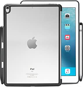 KHOMO - iPad Pro 10.5 Inch & iPad Air 3 2019 Hybrid Clear Case With Pen Holder - Companion Cover - Perfect match for Apple Smart keyboard and Cover