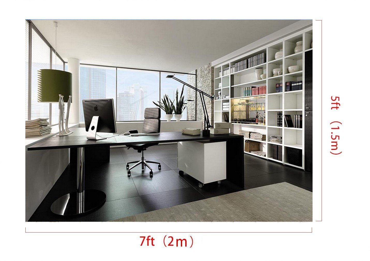 7x5ft home office photo backdrop Computer printed party photography studio background yz9001