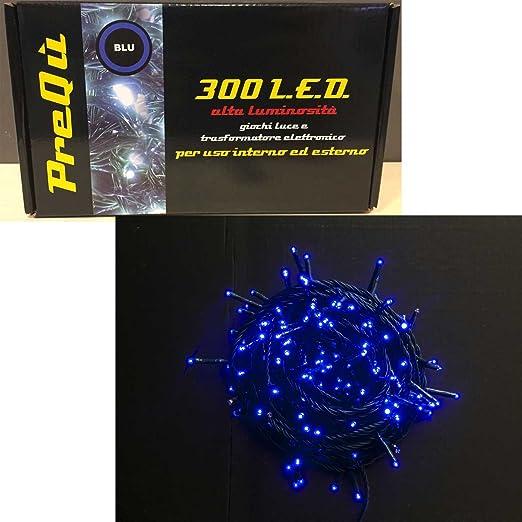 Luces de navidad cadena luminosa 300 Luces LED Azul 8 Juegos de para árboles decoración