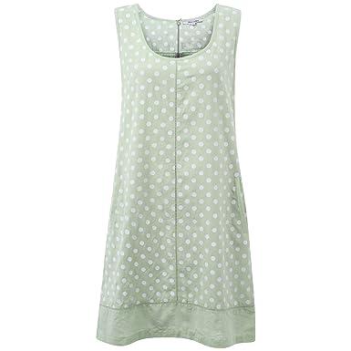 b4bba3f3923 Ladies Italian linen spotted dress plus size 10