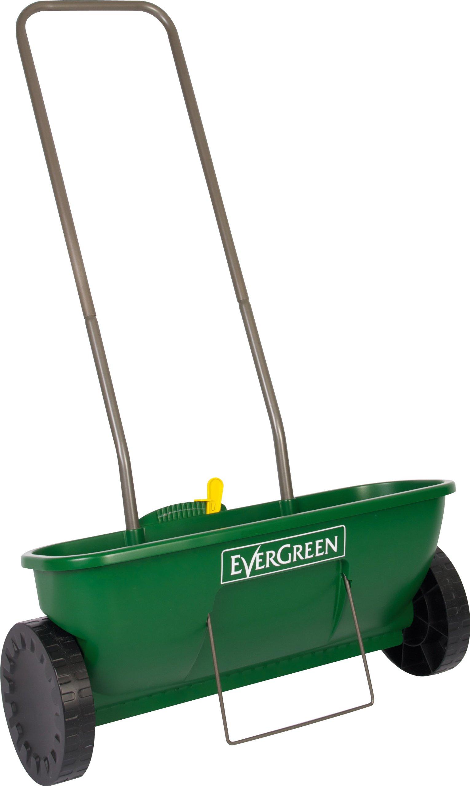 outdoor spreader evergreen easy drop feed plus garden lawn. Black Bedroom Furniture Sets. Home Design Ideas